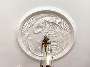 漆喰芸術天井中心飾