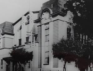 豊平館北側に設置された公会堂(1927)