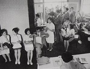 結婚式場利用申し込みの様子(1964)
